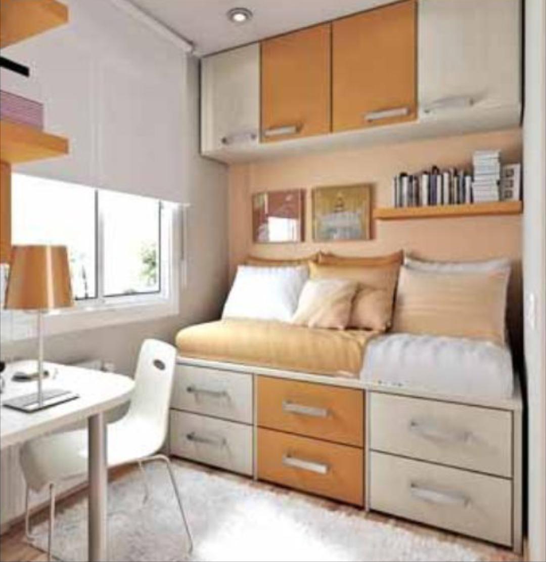 Pin De Irina Kluchko En Interior Pinterest Departamentos ~ Dormitorios Juveniles Para Espacios Muy Pequeños