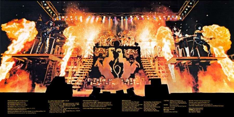 Kiss Alive Ii Gatefold Simply Awesome Kiss Concert Hot Band