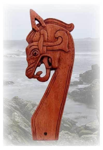 Replik Drachenkopf Gokstad Schiff Wikinger Viking Art Viking Tent Norse Vikings