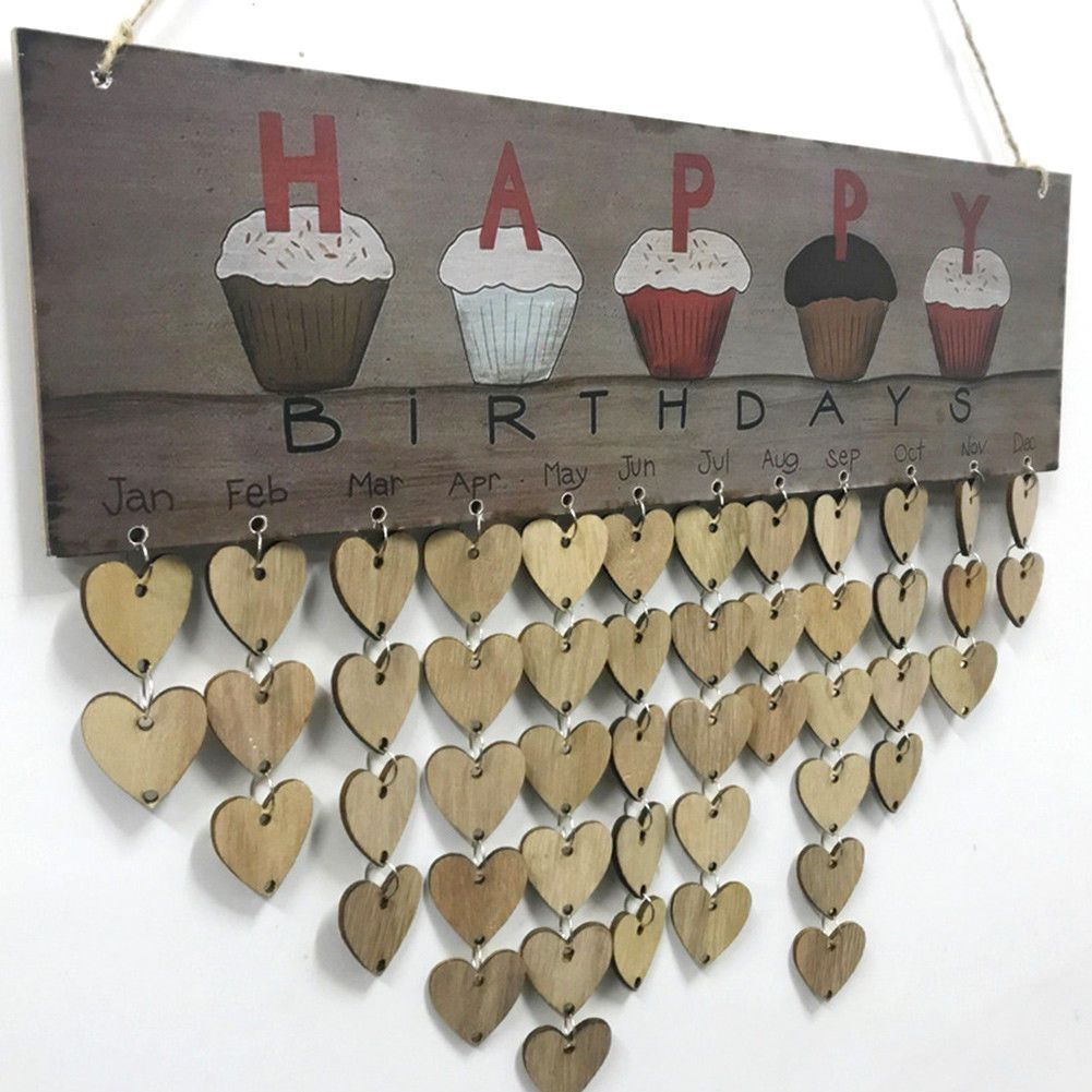 Love Life Family Birthdays Hanging Plaque with Discs