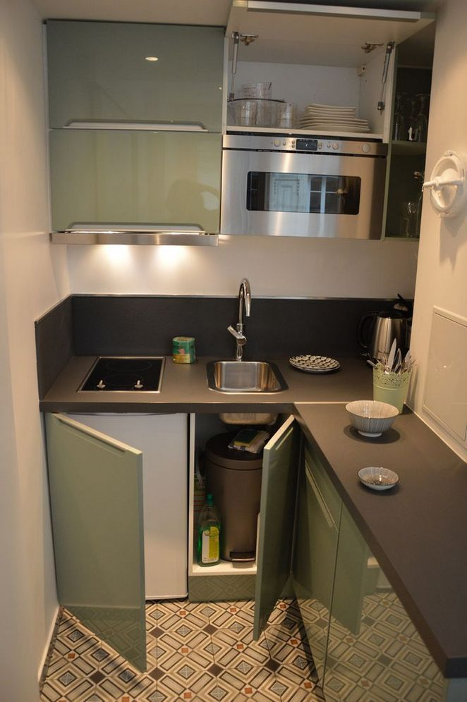 47 One Simple Trick For Studio Apartment Ideas Tiny Kitchen Revealed 137 Freehomeideas Com Small Apartment Kitchen Kitchen Remodel Small Kitchen Interior