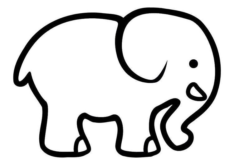 Dibujo Para Colorear Elefante 06 Elefantes Para Colorear Dibujo