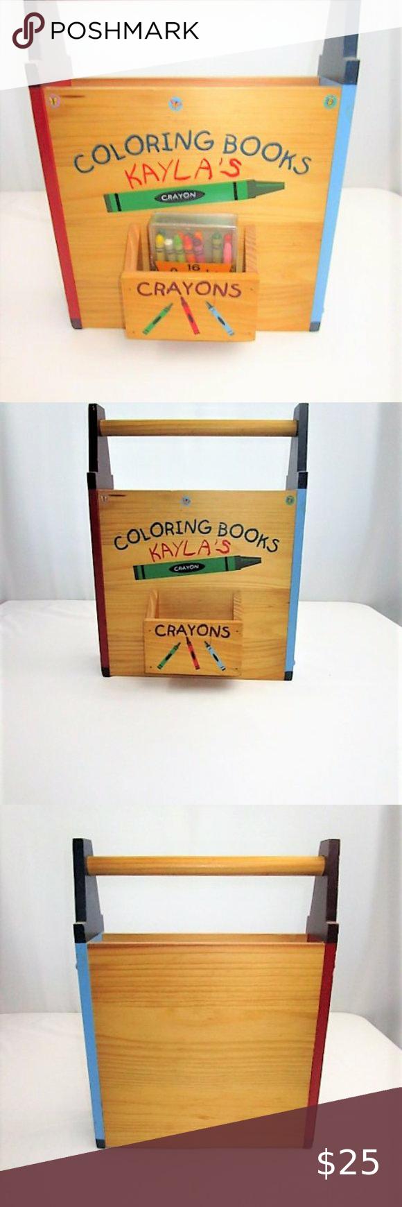 Wooden Coloring Book And Crayon Box Crayon Box Coloring Books Crayola Toys