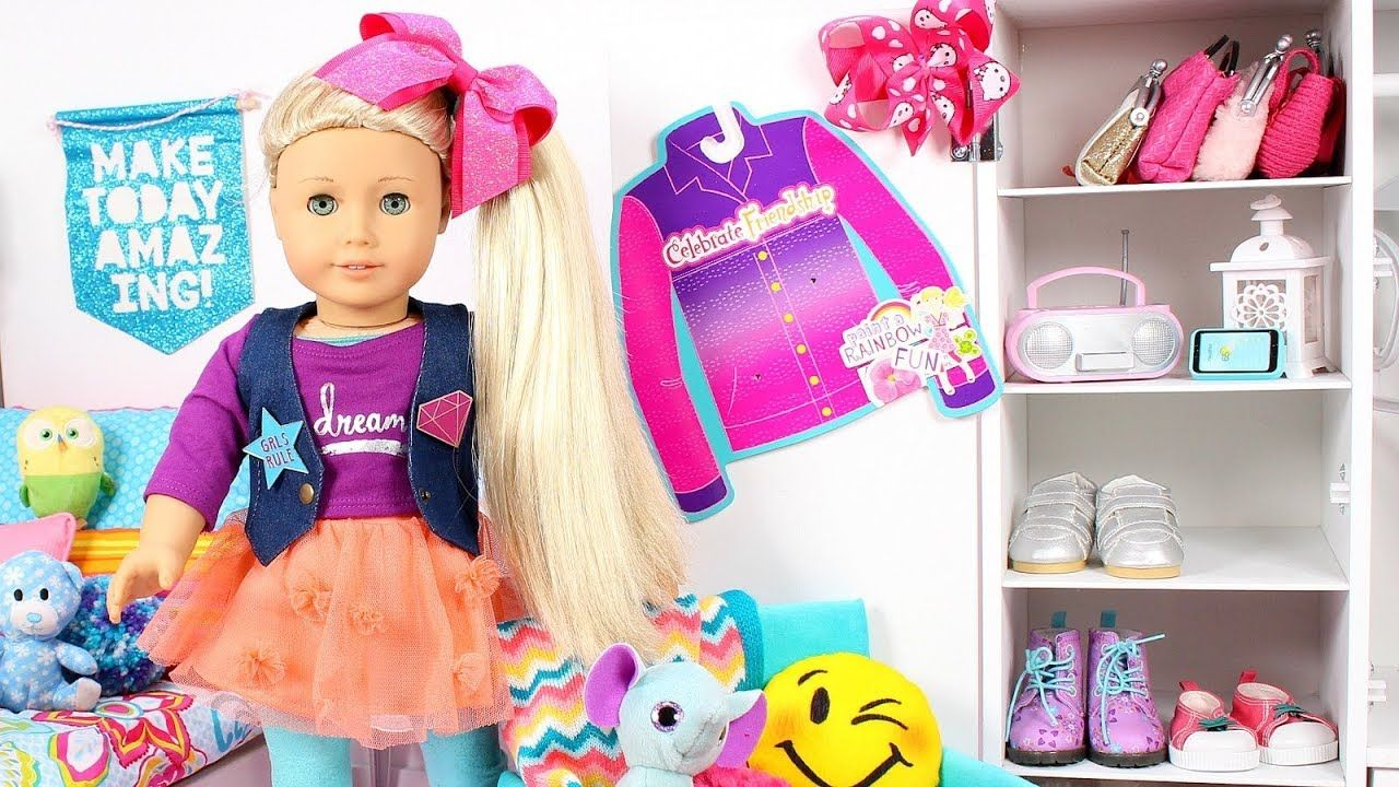 Baby Doll Dress Up Morning Routine Like Jojo Siwa With Bow Baby