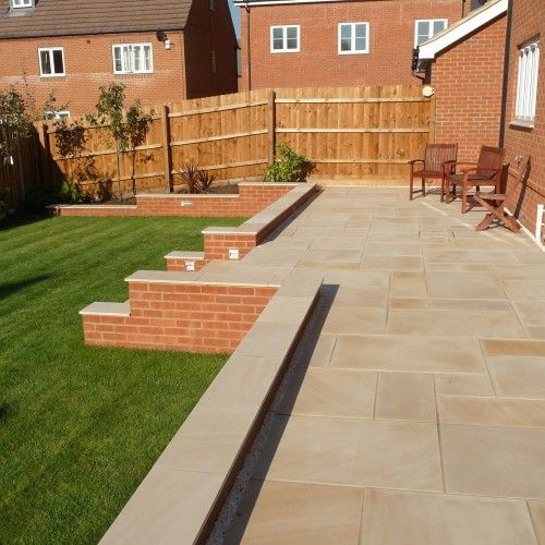 Patio Slabs And Designs: Smooth Indian Sandstone Patio - Google Search