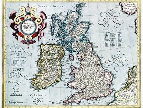 Photographic Print: 16th Century Map of the British Isles by Georgette Douwma : 24x18in #britishisles