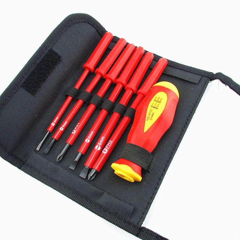 Neue 6 Teile/satz 1000 V Elektriker Schraubendreher Handwerkzeug Set Elektrische Voll Isolierte Hochspannungs Multi Schraubenkopftyp