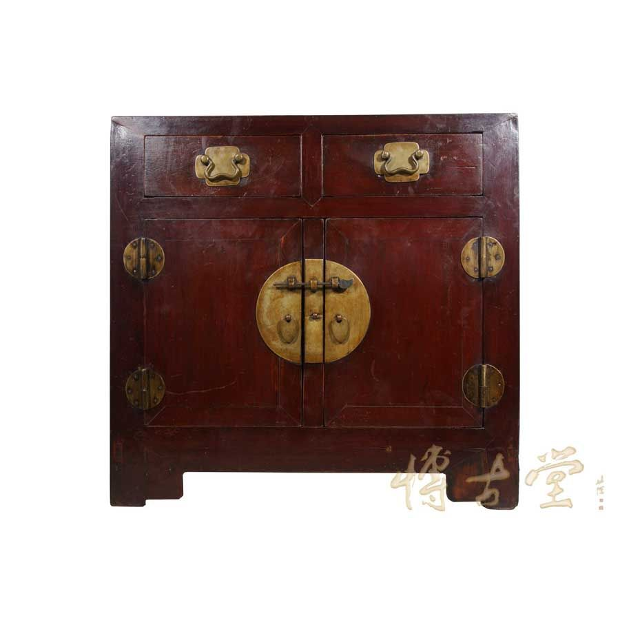 Chinese Antique 2 Drawers Cabinet/Side Table