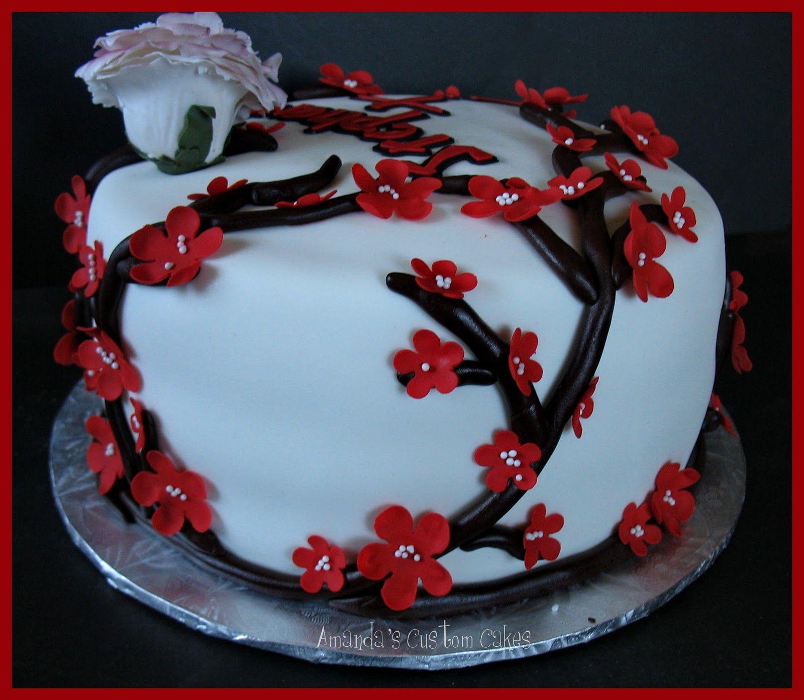 Amandas custom cakes japanese themed birthday cake cake