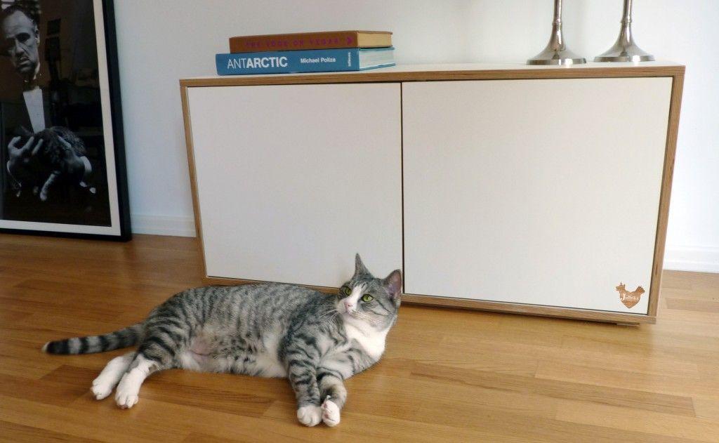Stylish Designer Litter Box Cabinet By German Company Julinka Modern Cat Furniture Litter Tray Litter Box Furniture