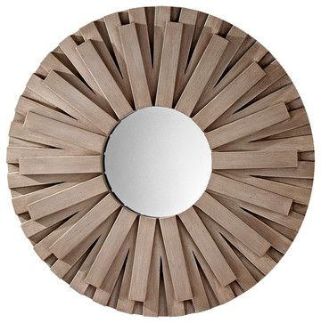 Weathered Grey Mirror - contemporary - mirrors - Chachkies