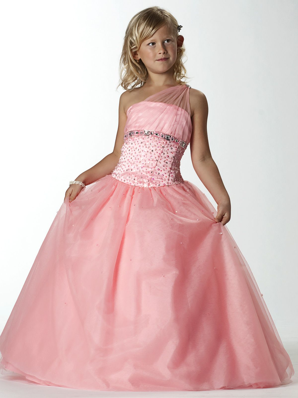 This tulle/satin pageant dress Tiffany Princess by House of Wu ...