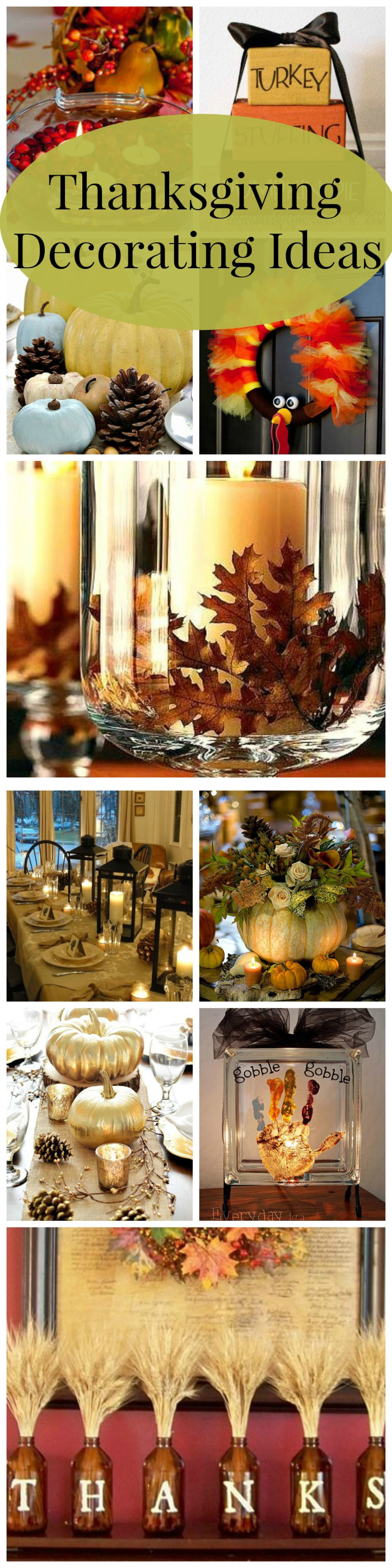 These are some of my favorite Pinterest #DIY #Thanksgiving ...