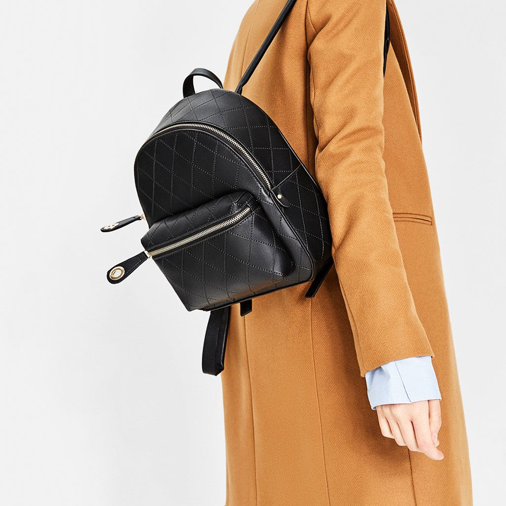 Embossed Pocket Backpack New In Woman Zara Singapore Backpack Pockets Backpacks Women Bags Fashion