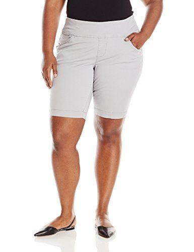 Jag Jeans Womens Plus-Size WM Ainsley Pull-On Bermuda Short In Bay Twill
