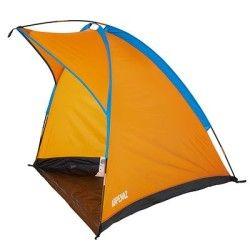 Strandmuschel tienda instantánea protección solar cortavientos carpa protección UV verde//naranja