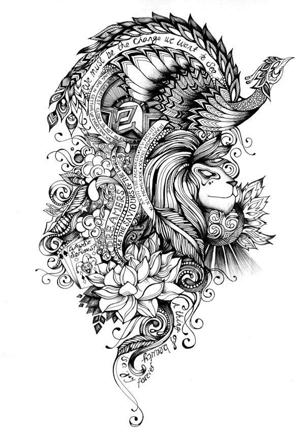 love the flower in this piece and the way everything flows