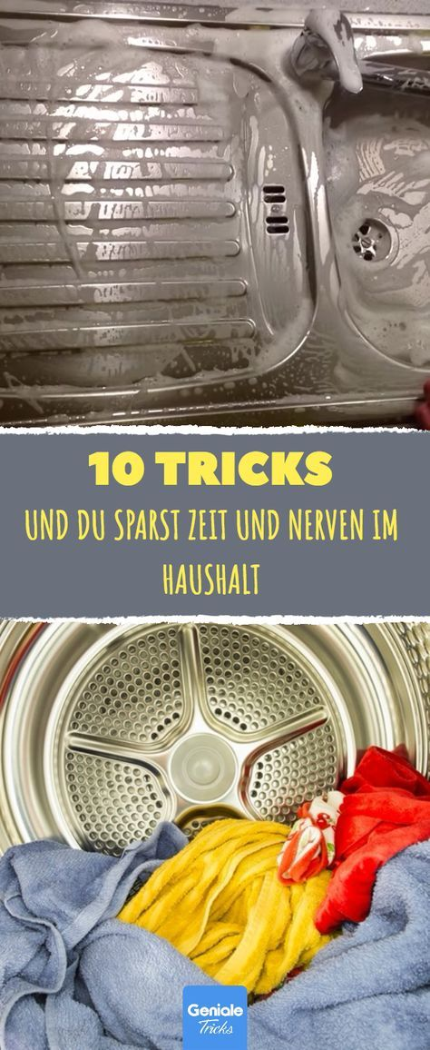 10 tricks sparen zeit und nerven im haushalt reinigen pinterest haushalt haushalts tipps. Black Bedroom Furniture Sets. Home Design Ideas