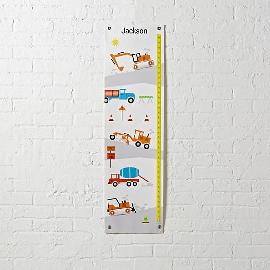 Construction Growth Chart The Land Of Nod Track Your Little Ones