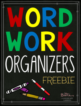 Word Work Organizers Free Lesson Plan  School    Word