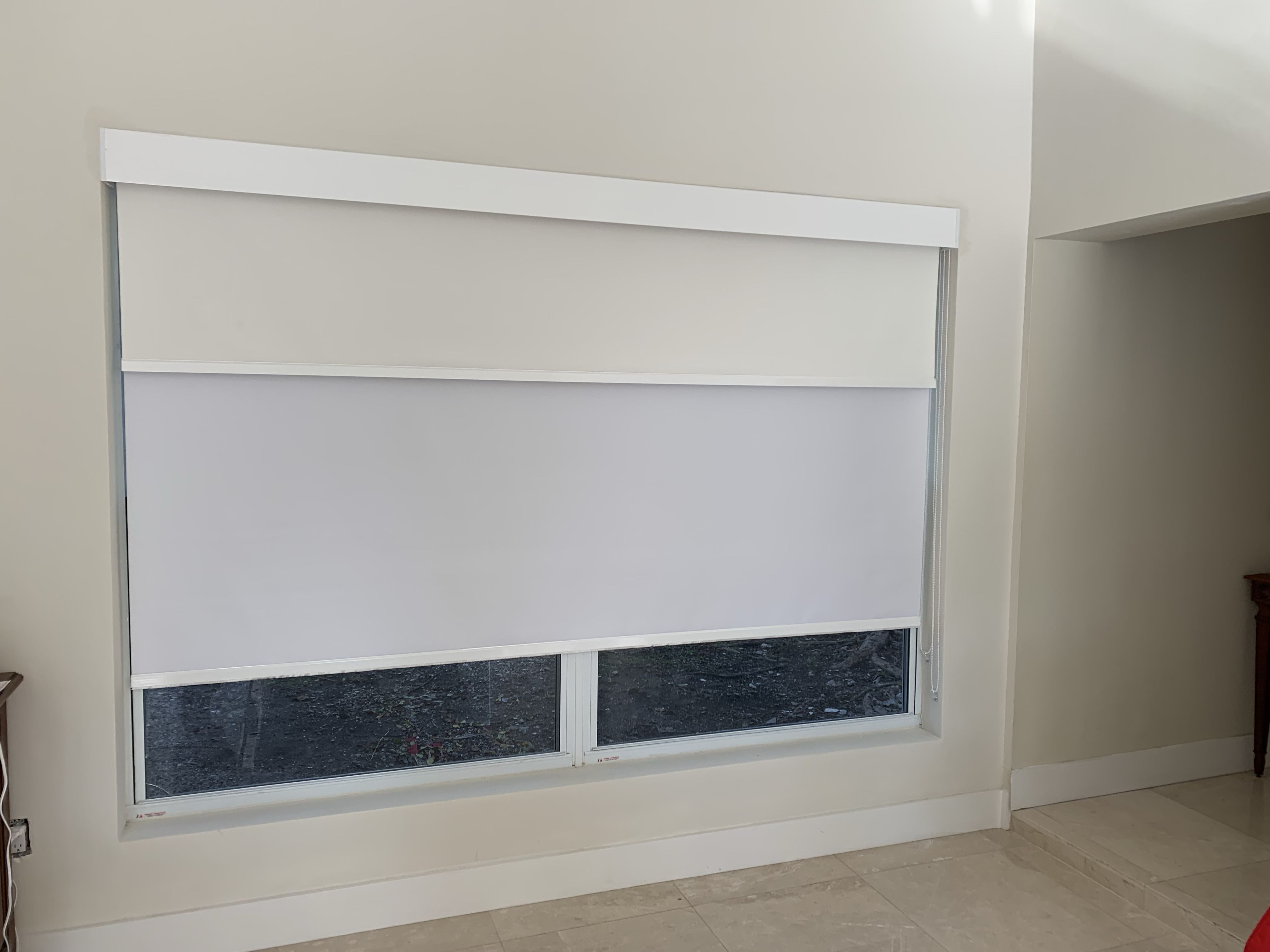 Dual Fabric Roller Shades Privacy Shades Fabric Roller Shades Elite Decor