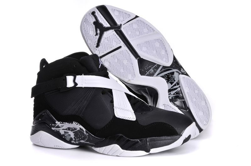 purchase cheap 8c407 e46aa Air Jordan Retro 8 Black White Shoes | Jordan Shoes | Air ...