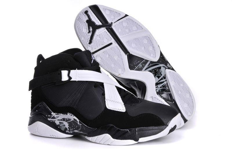 designer fashion c8454 c8fc8 Air Jordan Retro 8 Black White Shoes