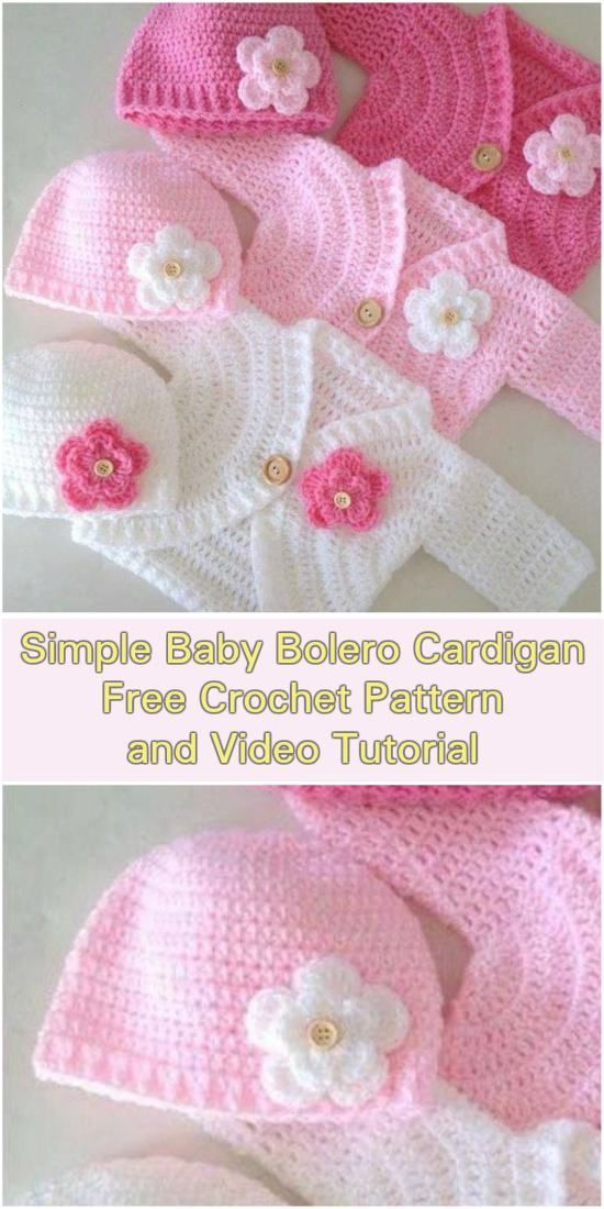 Elegant Baby Cardigans Free Crochet Patterns