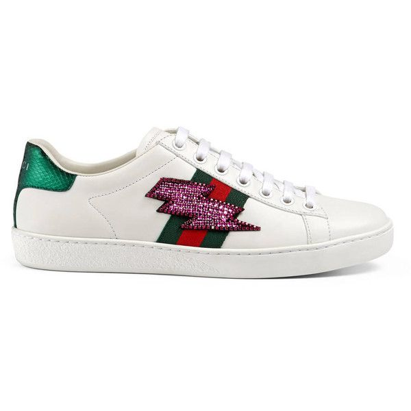 7293f48da72 Gucci Ace Embroidered Low-Top Sneaker ( 695) ❤ liked on Polyvore featuring  shoes
