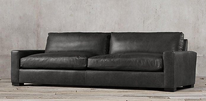 Maxwell 8 Leather Shown In Slate 40 Quot Deep X 34 Quot High