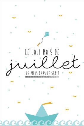 Carte Postale De Juillet A Imprimer Calendrier Mois De L Annee