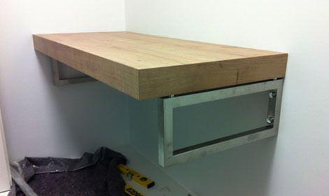 Waschtischkonsole Selber Planen | Design Und Alternativ Fliesen Zu Holz Waschtisch