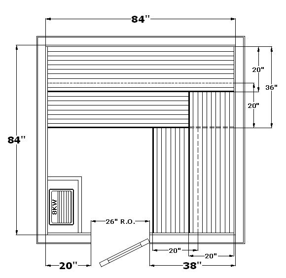 Sauna sizes google search mudrock residence for Steam room design plans