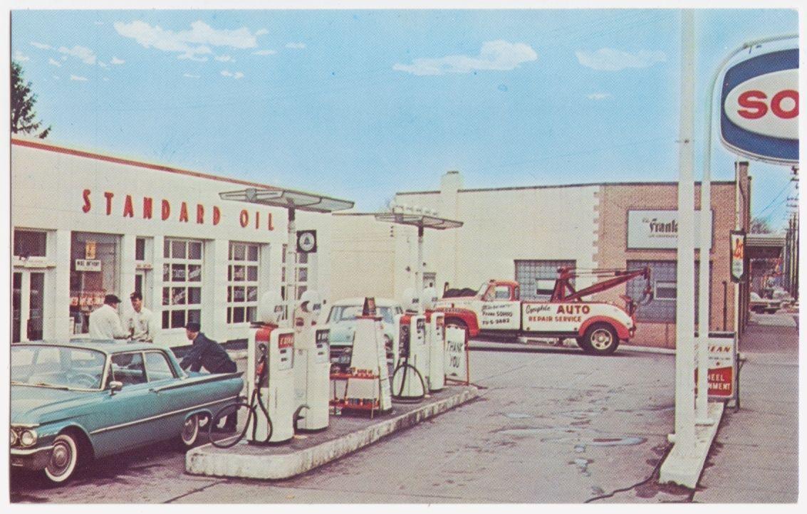 Parma Ohio Standard Oil Sohio Gas Pumps Service Station