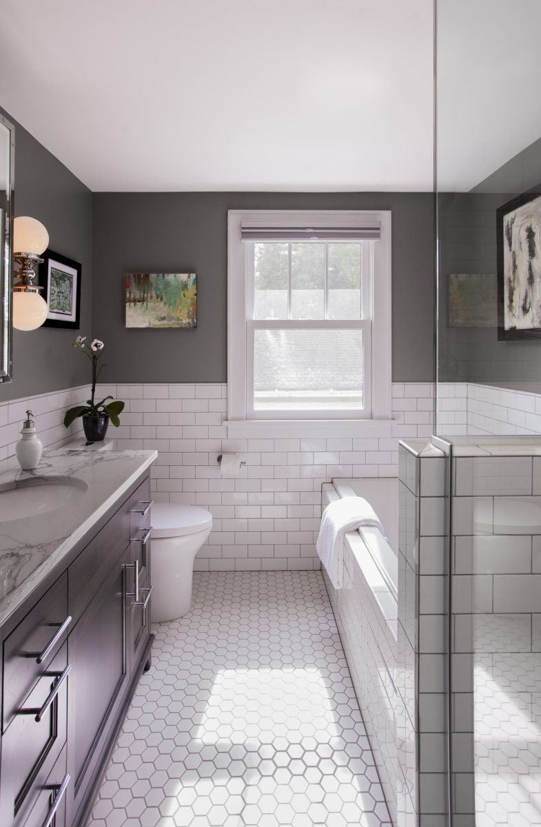 Transitional Bathroom Remodel - TreHus Architects + Interior ...
