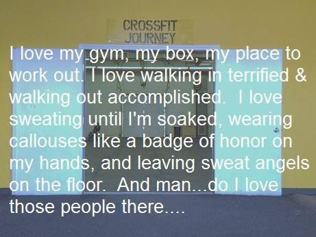 Crossfit journey. Don't know who wrote it, but they described the tribe.
