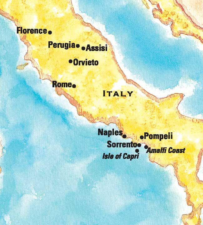 Train Map Route Italy Rome