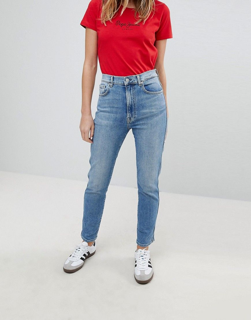 Pepe Jeans Betty High Waist Slim Mom Jean   Products   Jeans, Slim ... 6b77c15c47fb