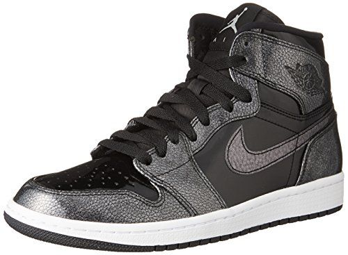best website 588f8 6742d Jordan Nike Mens Air 1 Retro High Top Basketball Shoe Black Black-White  10 120.00