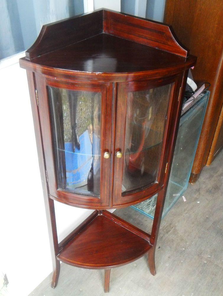 Antique / vintage corner display cabinet. - Antique / Vintage Corner Display Cabinet. Antique Pinterest