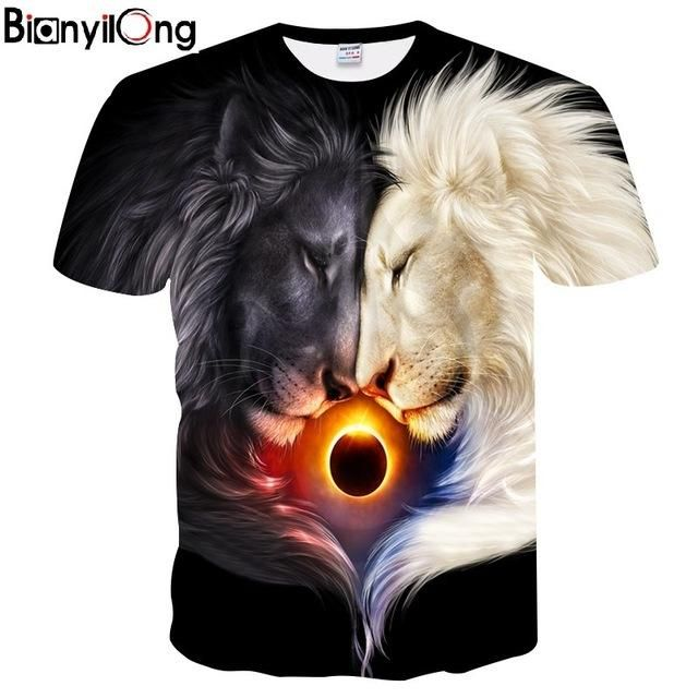 043835eb BIANYILONG Big yards New Fashion Brand T-shirt Men/Women Summer 3d ...