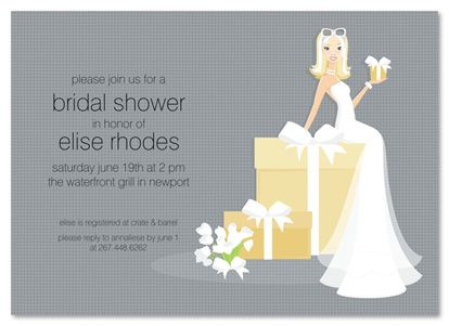 african american bridal shower invitations blonde bride on gift 20545