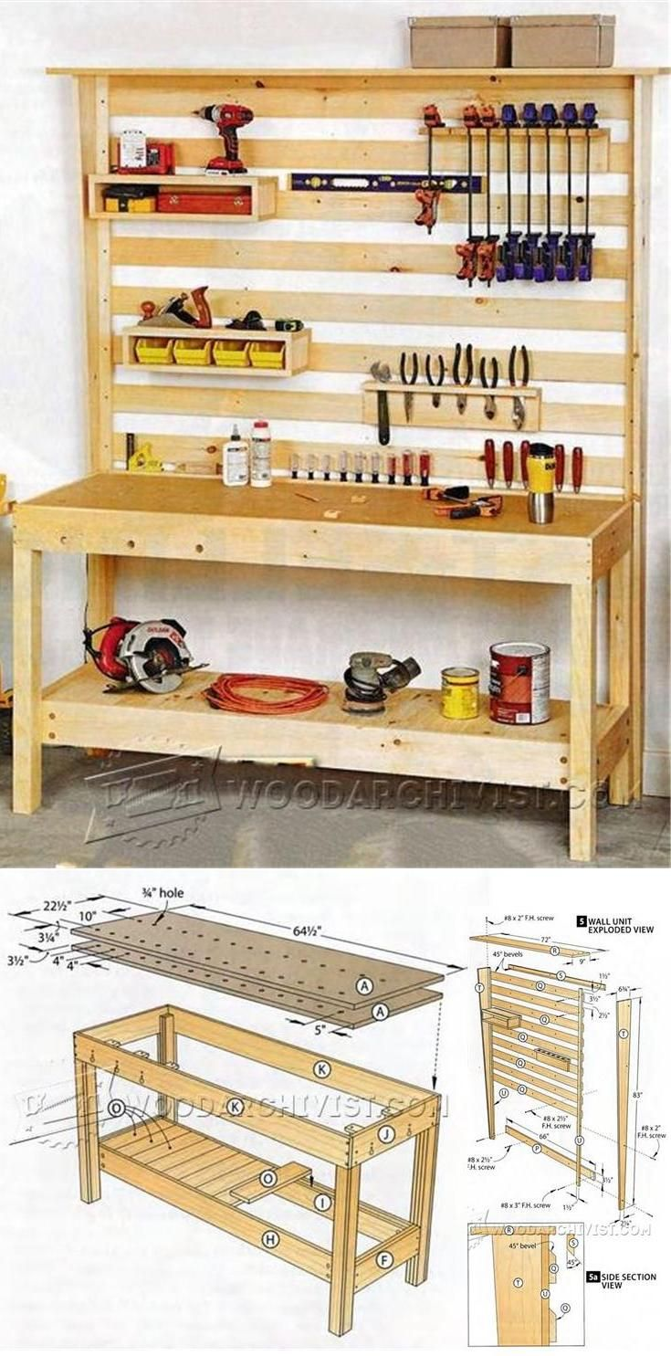 Worktable Plans Workshop Solutions Projects Tips And