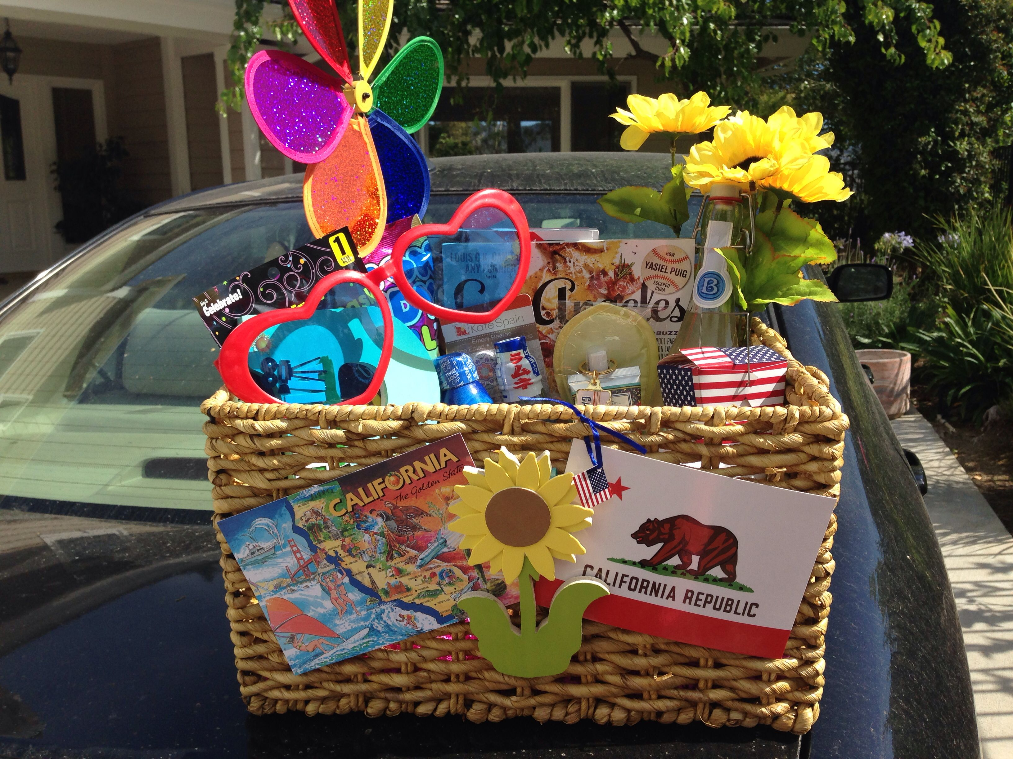 California Themed Basket For My Big Themed Gift Baskets