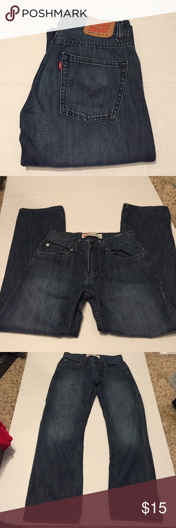 💙Levi's 514 Slim Straight size 16 Reg Levi's slim size 16 Reg.  Does not have adjustable waist.  🌻prices are negotiable - please feel free to make me an offer!  I also give great discounts when you make offers on bundled purchases!! 🌟 Levi's Bottoms Jeans