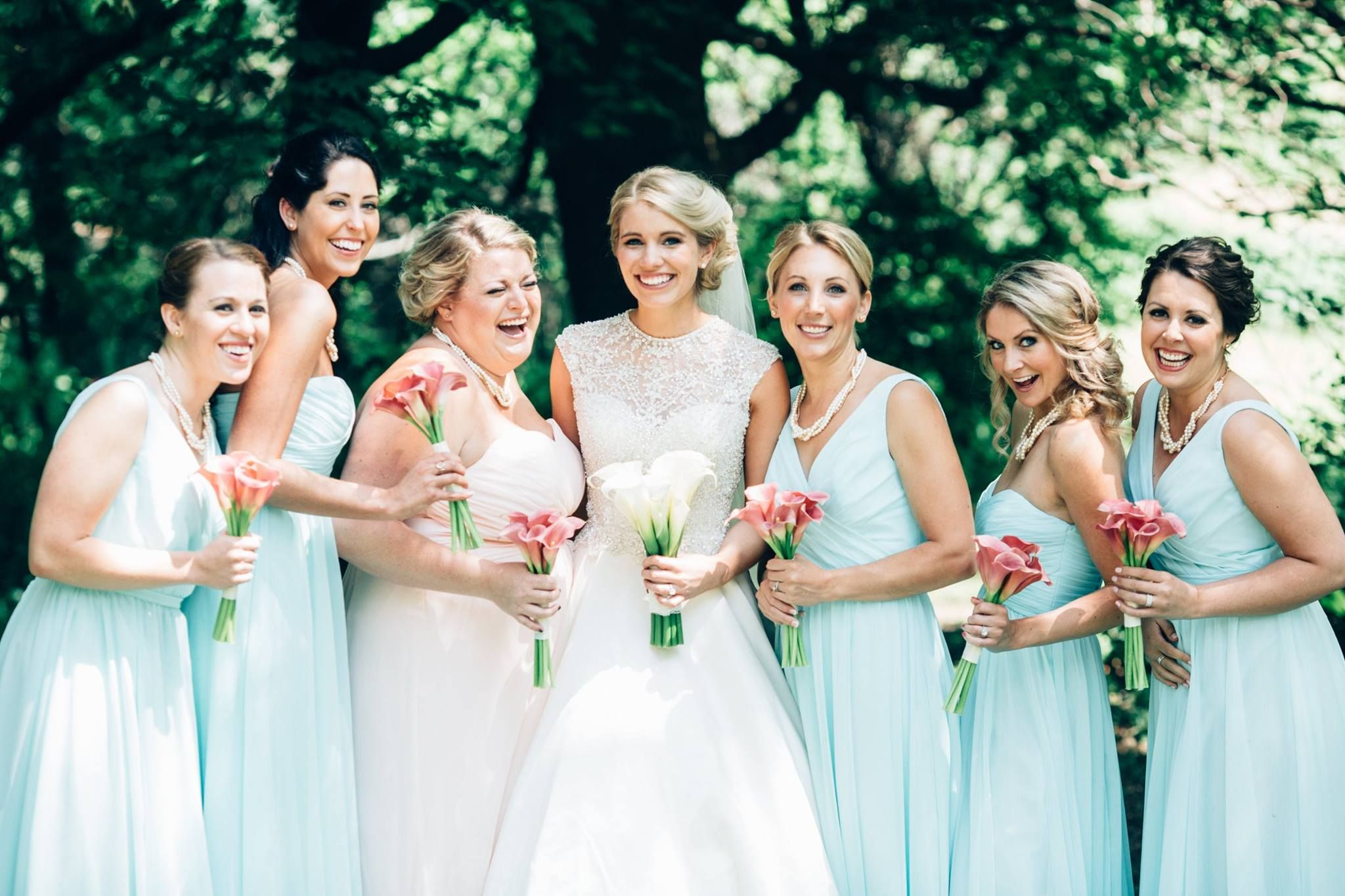 Mint blue bridesmaids look stunning in this outdoor wedding mint blue bridesmaids look stunning in this outdoor wedding kennedy blue bridesmaid dress anna ombrellifo Image collections