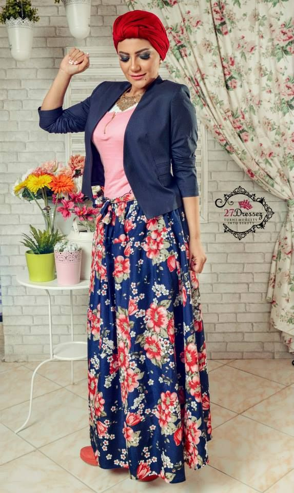floral maxi skirt Hijab casual styles by 27dresses http://www ...