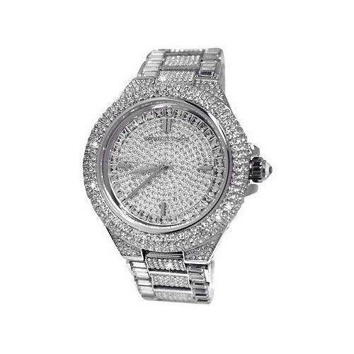 NEW Michael Kors MK5869 Silver Diamond Crystal Encrusted Watch Dial Ladies Watch #MichaelKors #Fashion