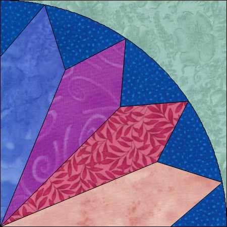 4 Point Fan Block -  Fan Pattern - Fan Quilt Pattern - Pieced Pattern - Instant Download - Block Pattern - Quilt Pattern - Quilt Block