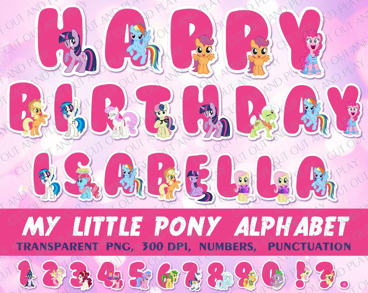 My Little Pony Alphabet Alphabet clipart My Little Pony Party